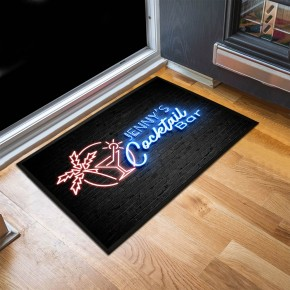 Personalised Cocktail Bar Door Mat