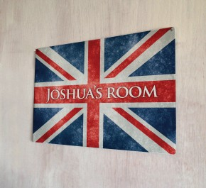 Personalised Union Jack Sign