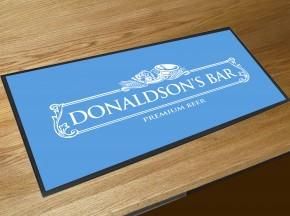 Personalised white label bar runner mat