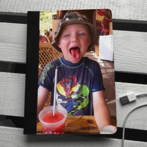 iPad mini leather custom photo case
