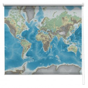 PHYSICAL WORLD MAP PRINTED BLIND