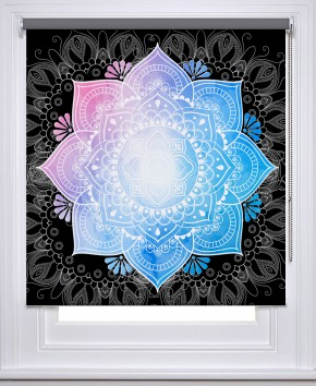 Mandala boho Black printed blind