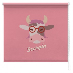 Personalised Pink Farmyard Cow blind