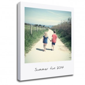 Personalised Photo polaroid style instagram Canvas Print