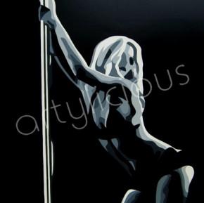Poledancer canvas art