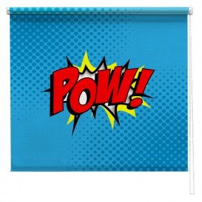 Pow comic printed blind