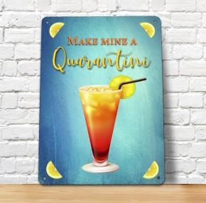 Quarantini Cocktail Bar Sign