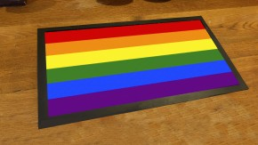 Rainbow flag pub bar runner