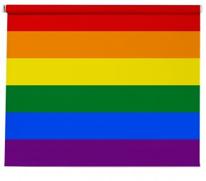 Rainbow Flag printed Blind