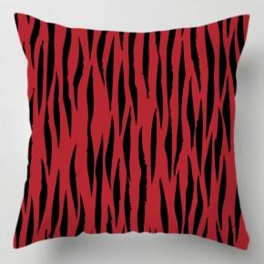 Red Tiger print cushion