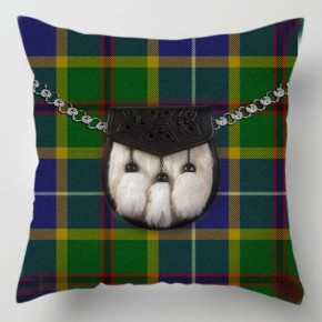 Green blue Tartan Sporran cushion