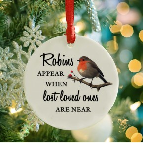 Robins appear Christmas decoration