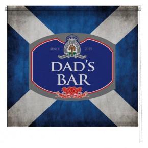 Personalised Scottish Flag beer sign printed blind