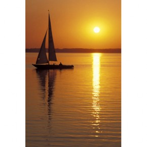 Sailing sunset canvas art
