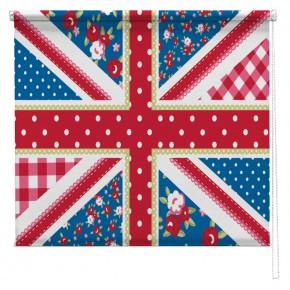 Shabby Chic Union Jack flag printed blind