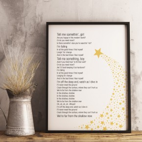 Shallow, A Star is Born, Lady Gaga song lyrics poster print