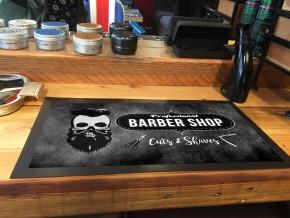 Skull Barber shop bar counter mat