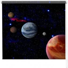 Solar system printed blind
