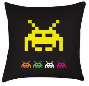 Space Invaders cushion retro game, great fathers day gift for gaming dads