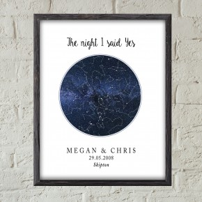 Custom Star Map Chart Print