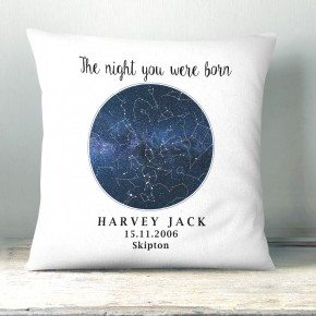 Custom Star Map Cushion, Night Sky, Star Map, Wedding Gift, Valentines, Anniversary Gift, Personalised Birthday Cushion