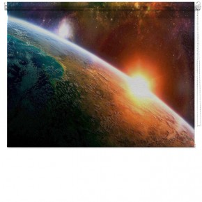 Space sunrise printed blind