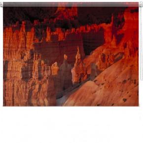 Rocks at sunset printed blind
