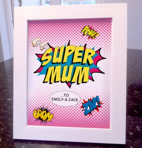 Mothers Day supermum comic art print