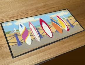 Surfboards bar runner counter mat