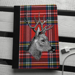 Tartan Stag iPad mini case
