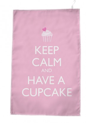 Keep Calm and have a Cupcake on TeaTowel