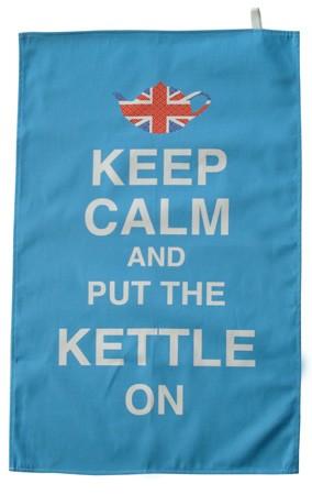 Keep Calm and put the Kettle on TeaTowel