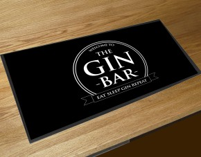 Gin Bar runner circle bar mat