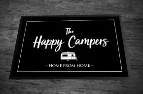Happy Campers caravan Door Mat