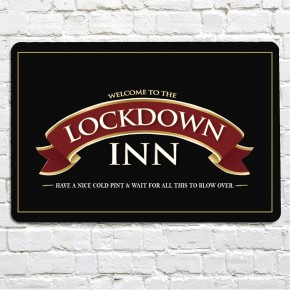 The Lockdown Inn bar sign