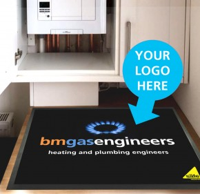 Personalised Tradesman protection work surface mat - ideal for plumbers, electricians, tradespeople