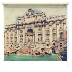 Trevi Fountain Rome printed blind