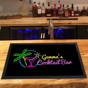 Personalised Tropical palm tree Cocktail bar runner