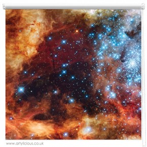 Tarantula Nebula galaxy printed blind