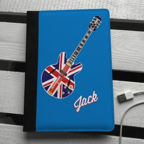 Personalised Union Jack guitar ipad mini case