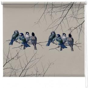 Vintage Bluebirds printed blind