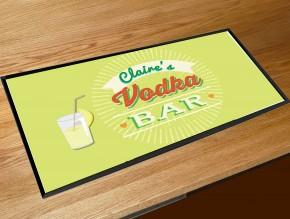 Personalised Vodka Bar runner mat