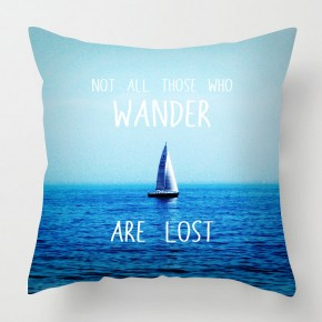 Wander quote cushion