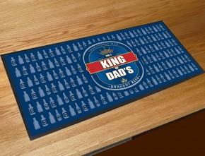 King of Dads beer label bar runner