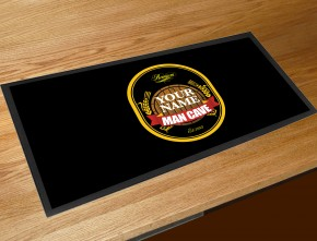 Personalised Man Cave bar runner