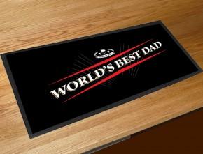 Worlds best Dad beer label bar runner