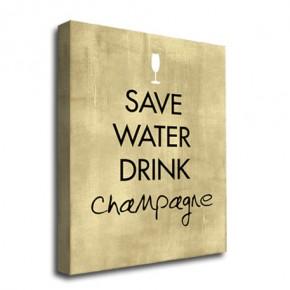 Drink Champagne canvas art print