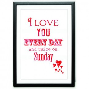 Love you everyday canvas art