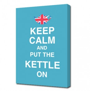 Keep calm and put the kettle on canvas art