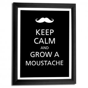 Keep Calm and grow a Moustache canvas art